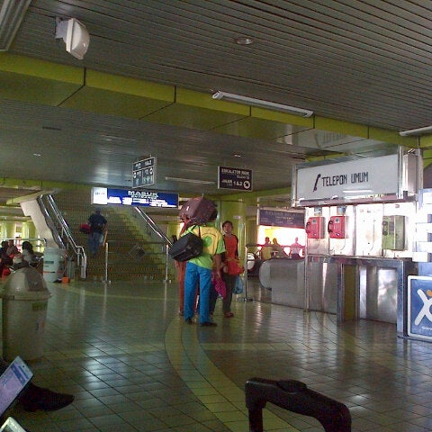 Photo taken at Stasiun Gambir by Tumpal S. on 2/1/2013