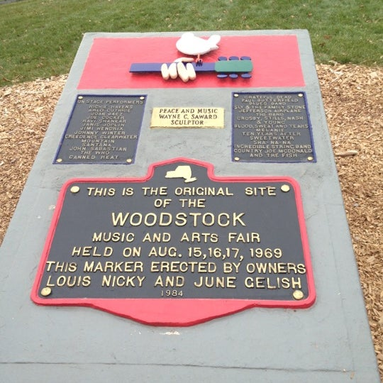 Photo taken at Woodstock Festival Concert Site/Monument by Jake on 11/23/2012