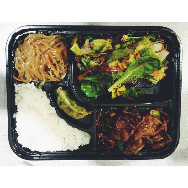 Got the spicy pork lunch box to go and it was amazing. Can't wait to come back again and actually dine in.