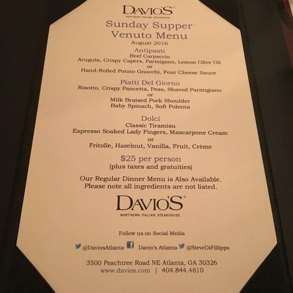 Photo taken at Davio's by Sasha E. on 8/14/2016