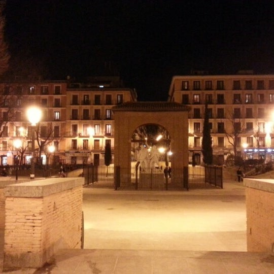 Photo taken at Plaza del Dos de Mayo by Vanesa S. on 2/9/2013