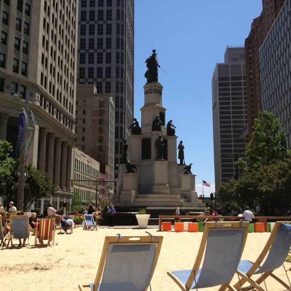 Photo taken at Campus Martius by Sam on 6/19/2013