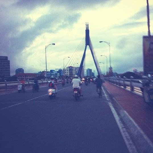 Photo taken at Han River Bridge by NamMuw on 10/7/2012
