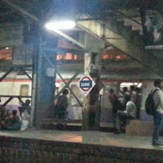 Photo taken at Dadar Railway Station by Jaimin C. on 10/24/2012