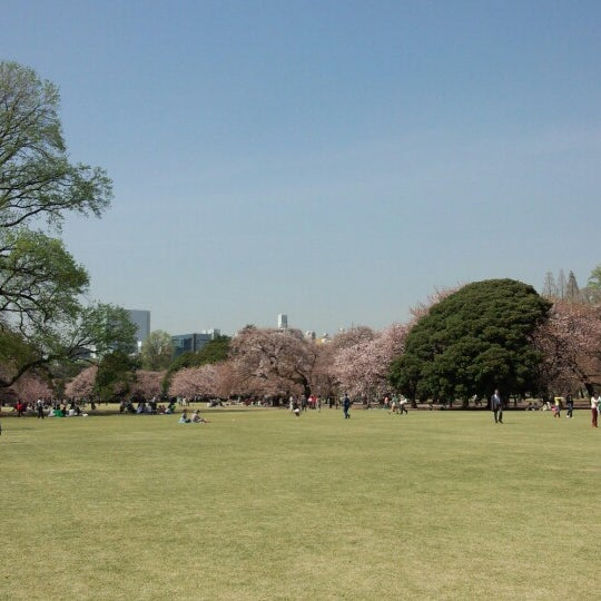 Photo taken at Shinjuku Gyoen by d w. on 4/4/2013