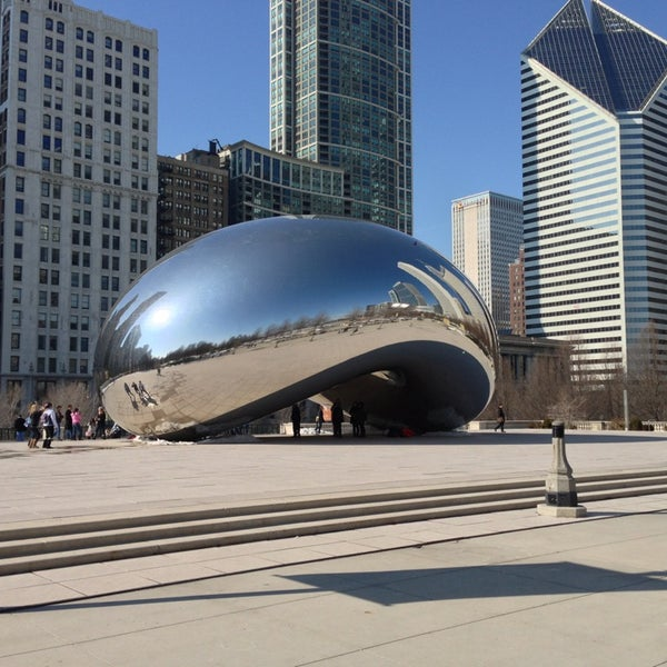 Photo taken at Cloud Gate by Anish Kapoor by Will D. on 2/25/2013