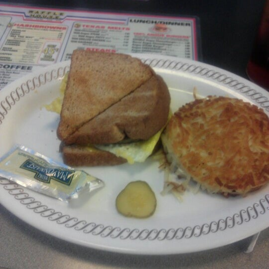 Photo taken at Waffle House by Rhiannon on 1/19/2013