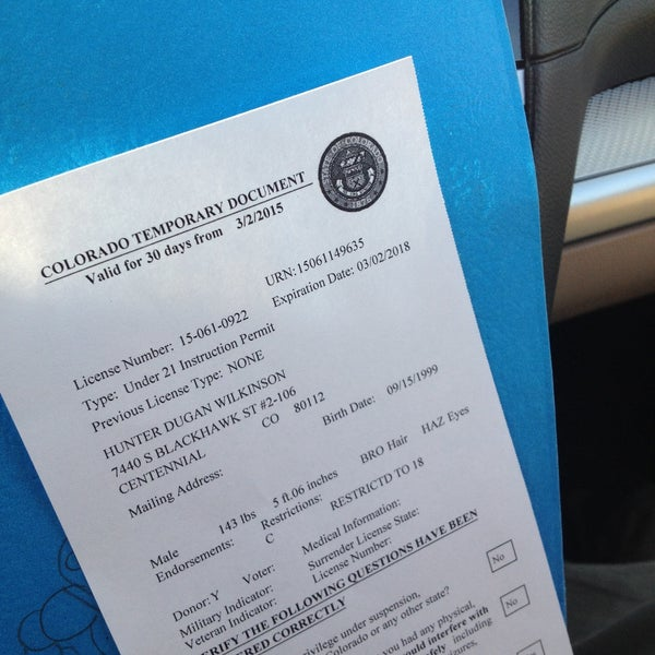 Colorado Department Of Motor Vehicles License Renewal