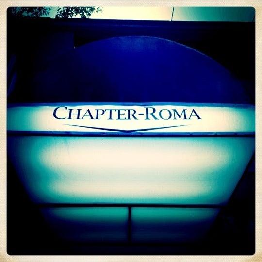 Photo taken at Chapter-Roma by Jorge Eduardo M. on 9/21/2012