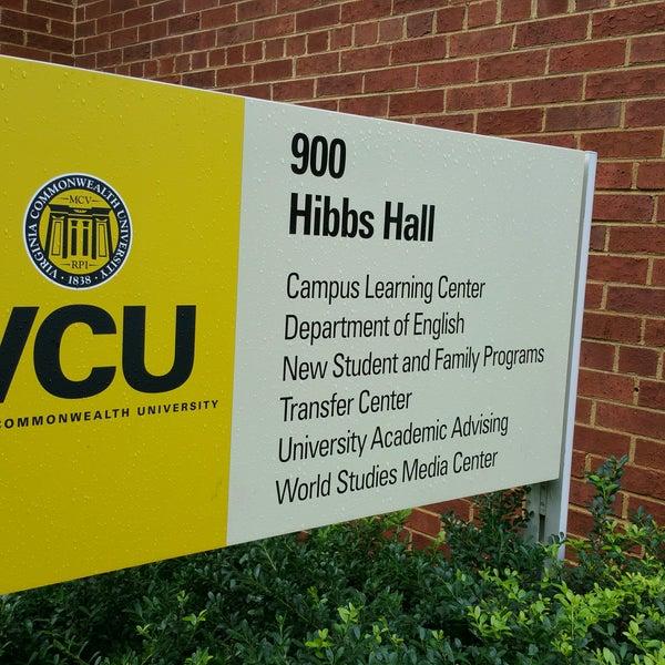 Photo Taken At Hibbs Hall   VCU By Alejandra M. On 9/29/