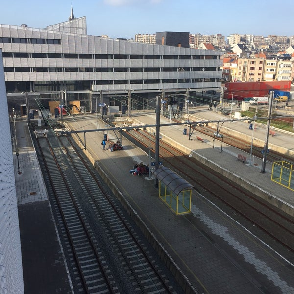 Photo taken at Station Blankenberge by Gerry D. on 2/18/2017