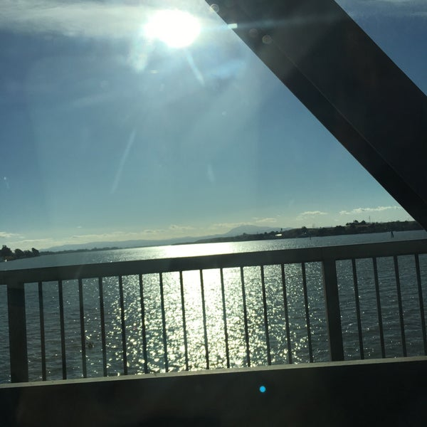 Photo taken at Rio Vista Bridge by Mary Ann on 1/1/2017