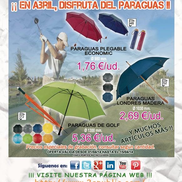 ¡¡Oferta quincenal PARAGUAS!!. Para más información, no dude en llamarnos. #regalosdeempresa #leonesp #bierzo #comunicacion #merchandising #paraguas #golf #umbrella