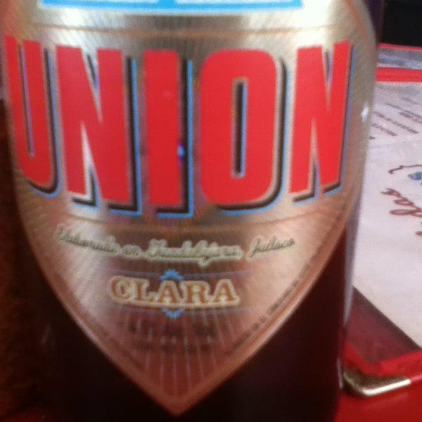 Photo taken at La Cerveceria Union by Pablo B. on 5/18/2013