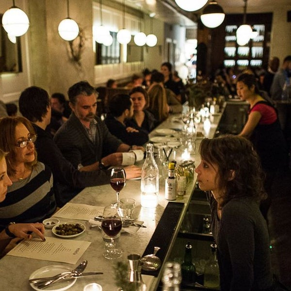Estela is the ideal restaurant with reasonable portions. It serves tartare in a tapas-sized bowl and a hanger steak that just involves a few bites of flesh and won't mess up a palate.