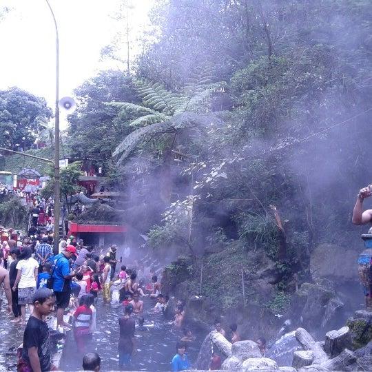 Photo taken at Taman Wisata Air Panas Guci by aandree a. on 1/27/2013