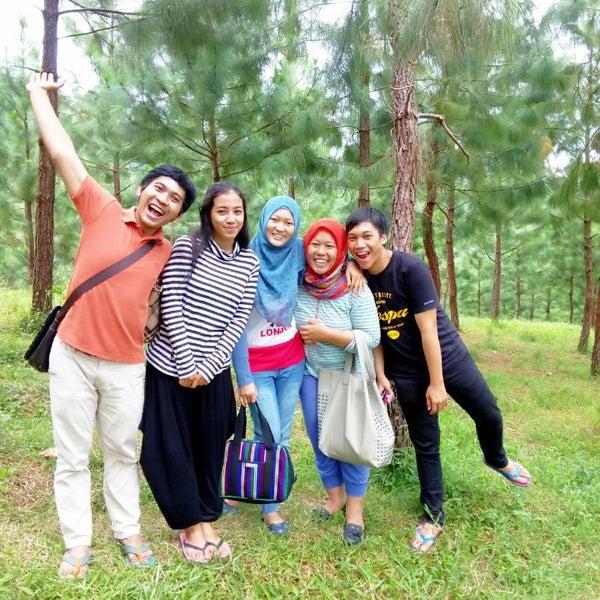 Photo taken at Taman Wisata Air Panas Guci by Alninda H. on 1/3/2015
