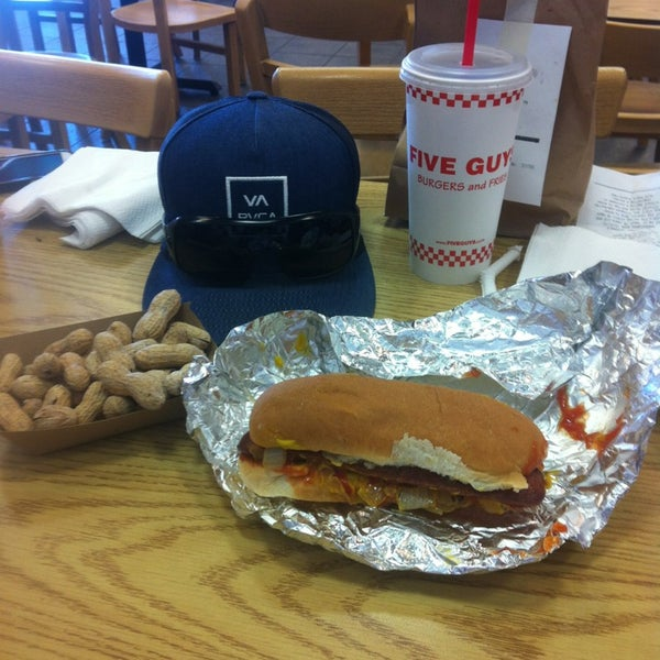 Photo taken at Five Guys by Al T. on 7/16/2013