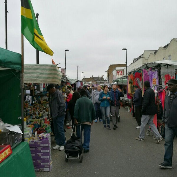 Photo taken at Ridley Road Market by Marius C. on 6/4/2016