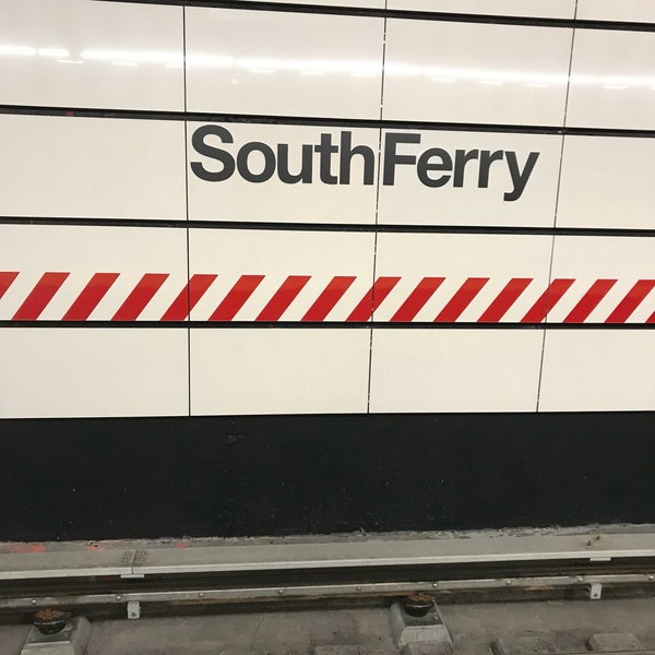 Photo taken at MTA Subway - South Ferry (1) by Jennifer H. on 10/4/2017