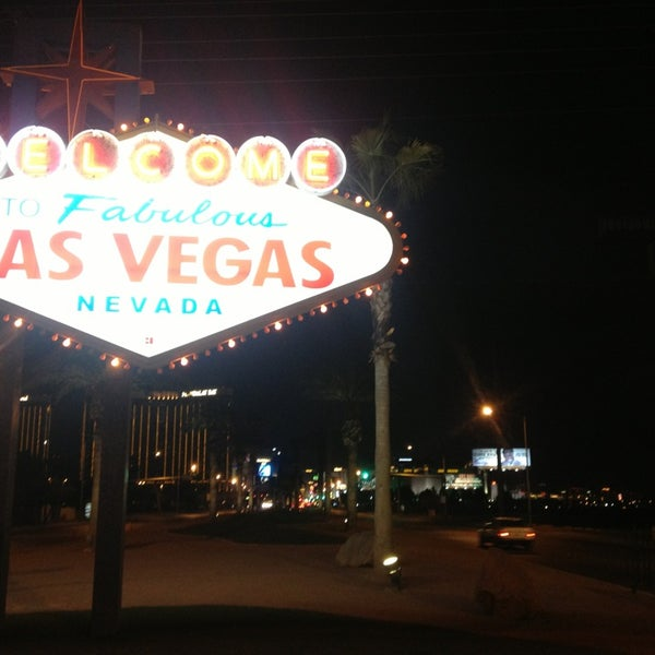 Photo taken at Welcome To Fabulous Las Vegas Sign by Jonathan C. on 3/1/2013