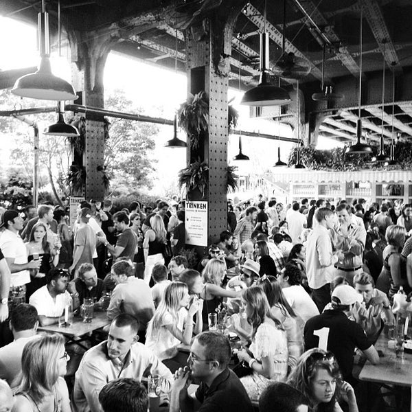 Photo taken at The Biergarten at The Standard by Bret C. on 7/21/2012