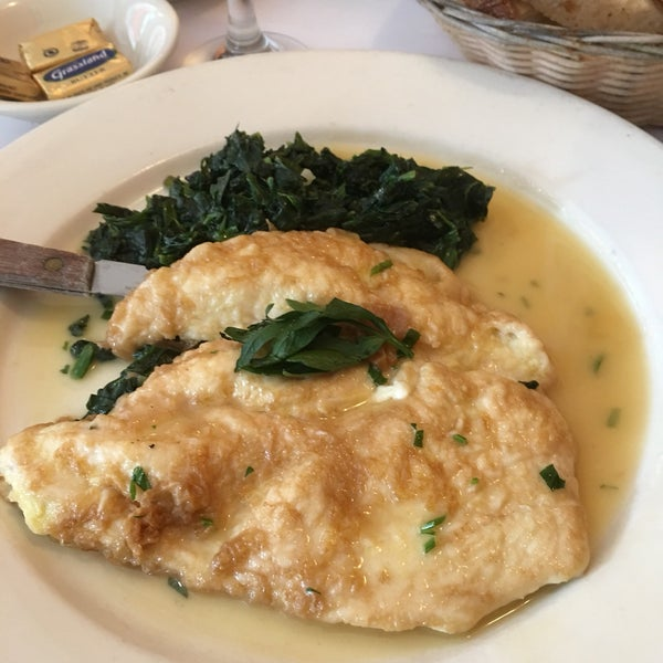 Fresh vegetables and delicious chicken francaise!