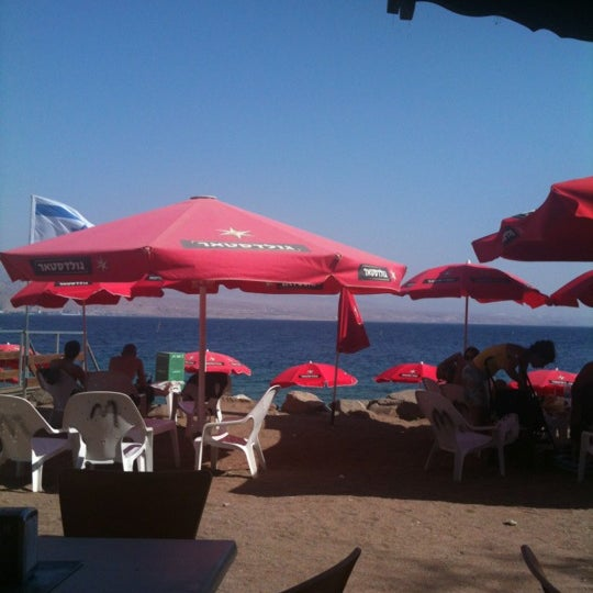 Photo Taken At Migdalor Beach Club Eilat By Danièle A On 8 31