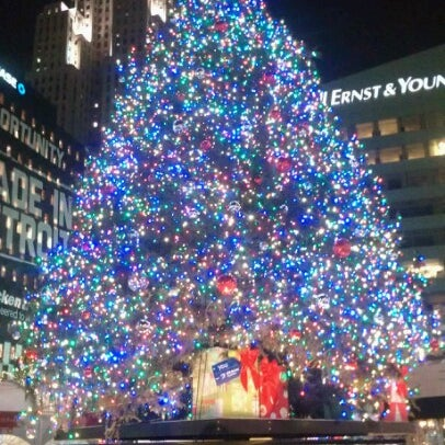 Photo taken at Campus Martius by Jenny P. on 12/20/2012
