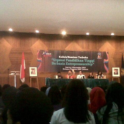 Photo taken at Institut Ilmu Sosial dan Ilmu Politik (IISIP) by novi v. on 11/9/2012