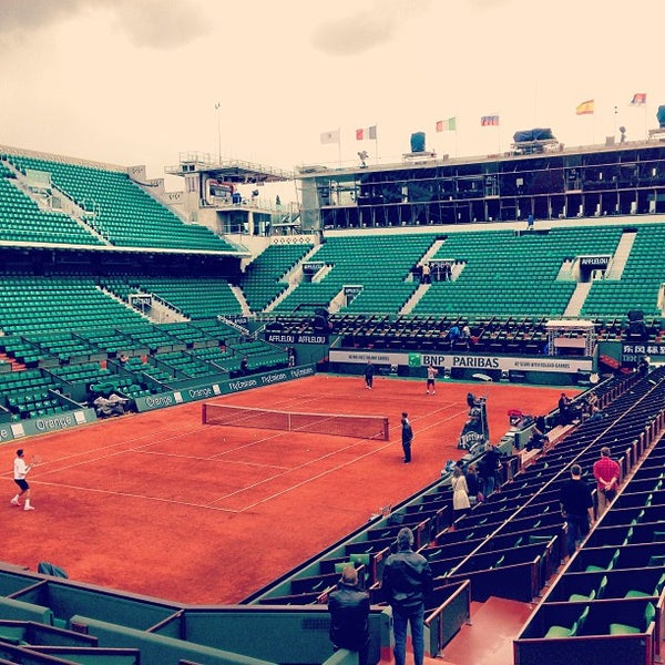 Photo taken at Stade Roland Garros by Francois G. on 5/24/2013