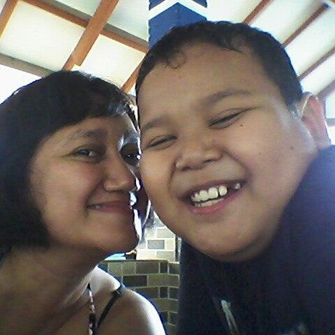 Photo taken at Ikan Bakar Bambu Haur by Lisa h. on 12/23/2012