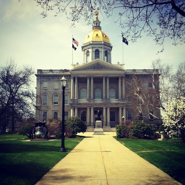 Photo taken at New Hampshire State House by Loren F. on 4/22/2013