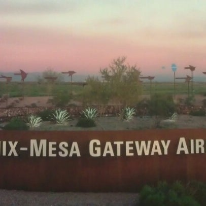 Photo taken at Phoenix-Mesa Gateway Airport (AZA) by Jason N. on 11/29/2012