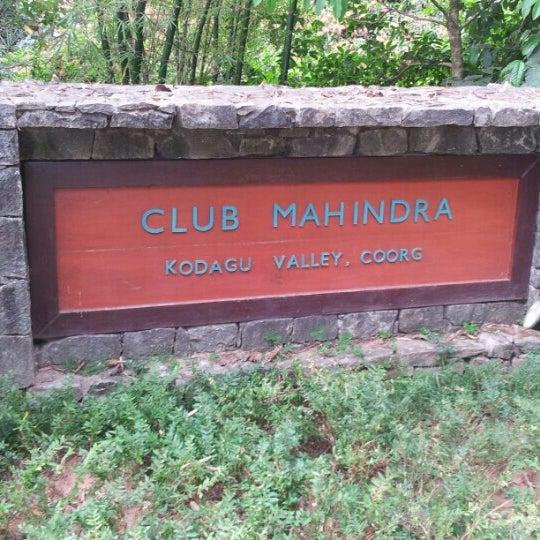 Photo taken at Club Mahindra Madikeri by Hans Peter P. on 4/13/2013