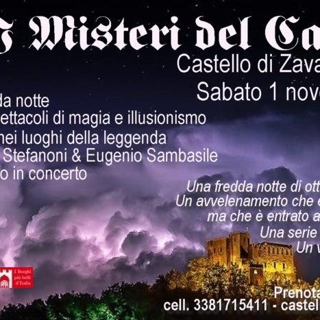 """Vi aspettiamo sabato 1 novembre all'evento speciale """"I Misteri del Castello, 3° edizione""""! Info e prenotazioni su www.zavattarello.org/castello_misteri.html"""
