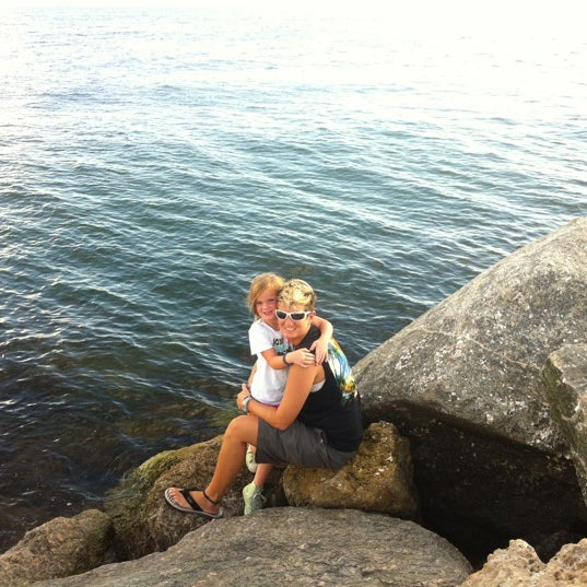 Photo taken at South Jetty / Humphris Park by Carrie B. on 10/7/2012