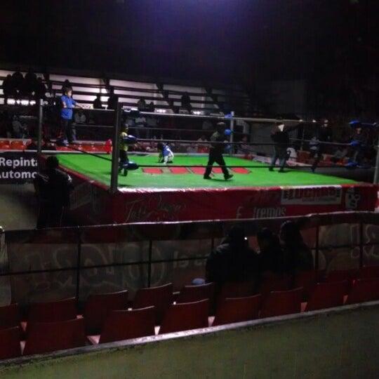 Photo taken at Arena Adolfo Lopez Mateos by Ivan on 2/2/2014