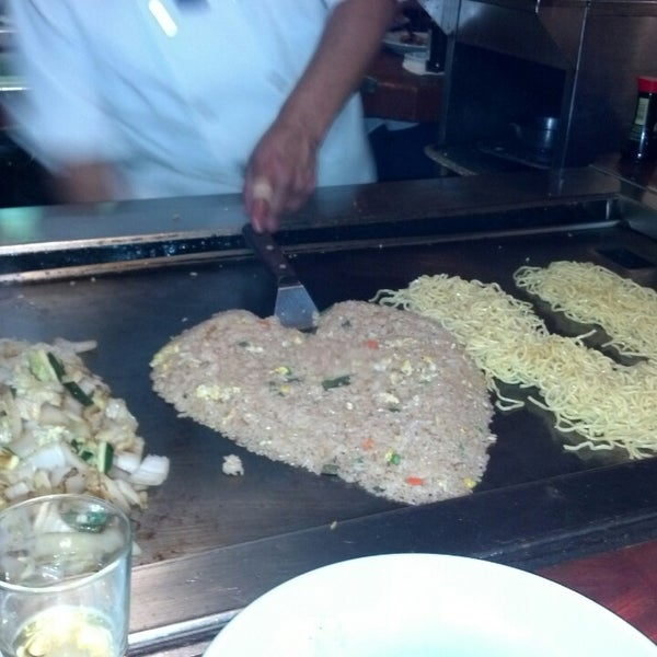 Photo taken at Mt. Fuji Japanese Steak House by Tyler R. on 2/16/2013