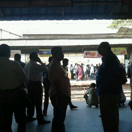 Photo taken at Dadar Railway Station by Akshay K. on 12/26/2012