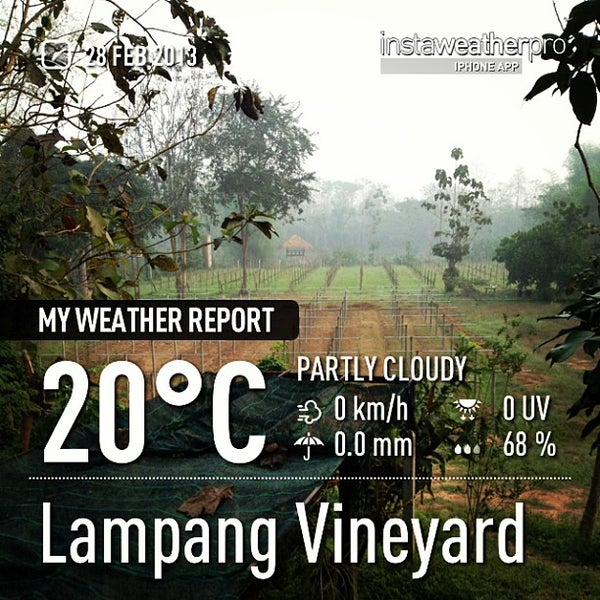 Photo taken at Lampang Vineyard by Jesada K. on 2/28/2013
