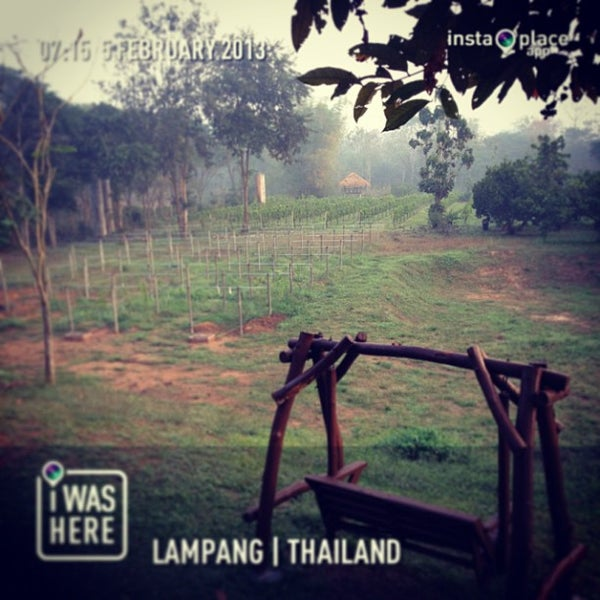 Photo taken at Lampang Vineyard by Jesada K. on 2/5/2013