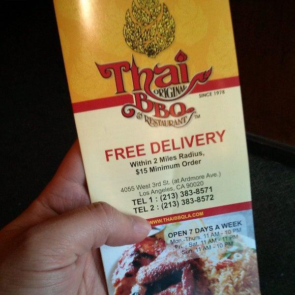 รูปภาพถ่ายที่ Thai Original BBQ & Restaurant โดย Frank L. เมื่อ 3/14/2013