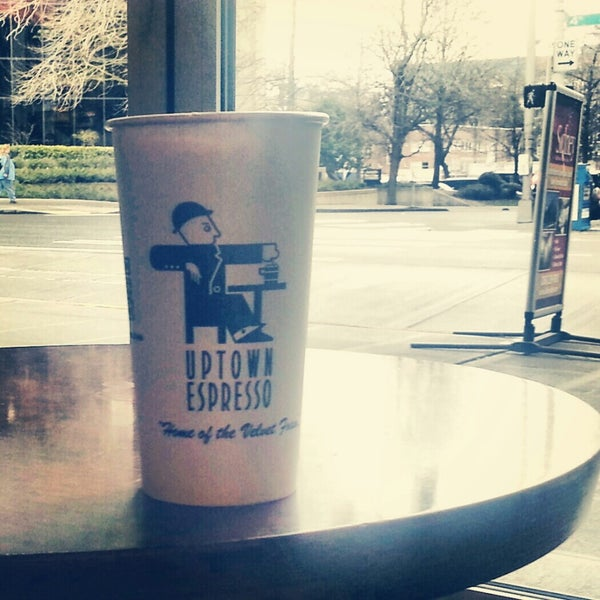 Photo taken at Uptown Espresso by Kari on 2/14/2013