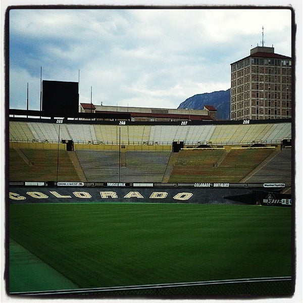 Photo taken at Folsom Field by Rob S. on 8/5/2013