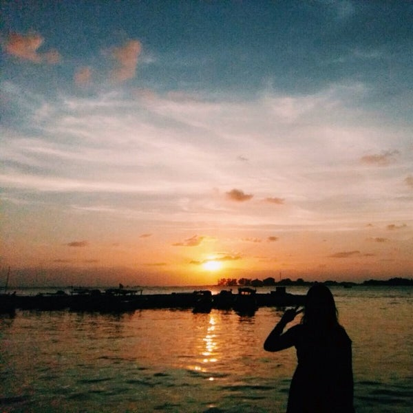 Photo taken at Pulau Pramuka by Erlita P. on 8/16/2015
