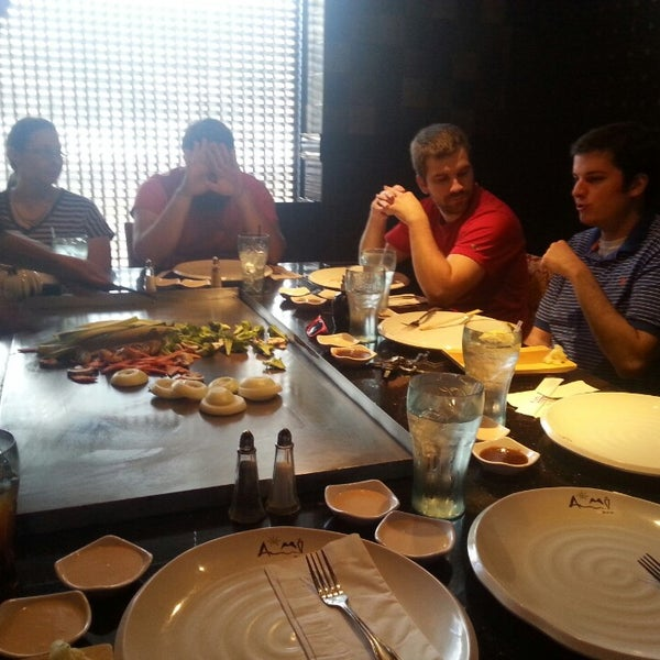 Photo taken at Aomi Japanese Steakhouse by Rob J. on 10/2/2014