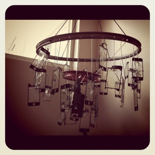 Check out our cool chandelier