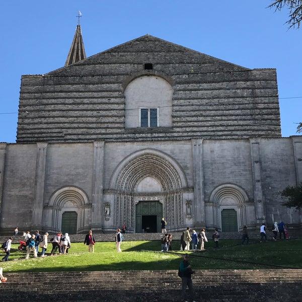 Photo taken at Basilica di San Fortunato by Chiara on 4/29/2017