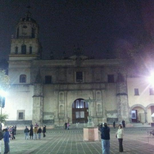 Photo taken at Jardín Hidalgo by Christopher L. on 1/3/2013